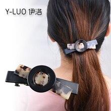 Women headwear cute hair clip patchwork vintage barrettes korean  bow accessories for women
