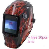 Big View Eara 4 Arc Sensor Auto Darkening Solar Welders Welding Helmet Mask With Free 10pcs