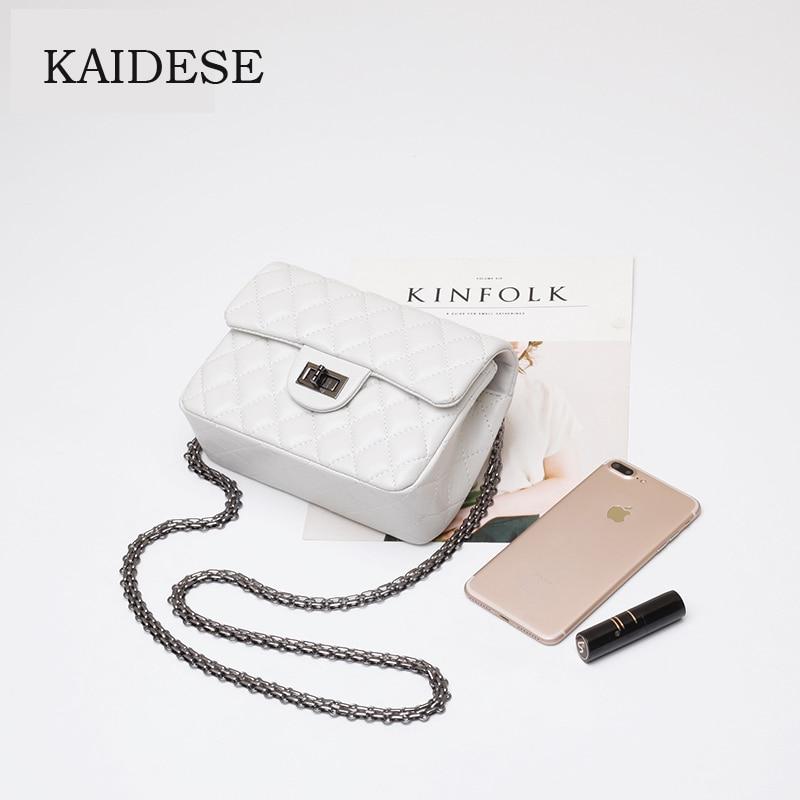 KAIDESE 2017 new genuine leather large leather small square shoulder bag shoulder slanting shoulder bag ladies fashion lingg ba