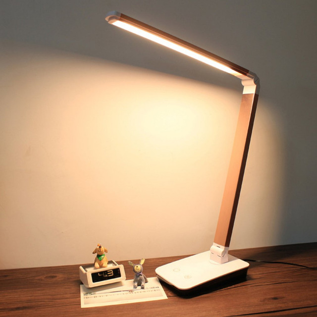 Foldable 4 level Dimmable Touch Desk Lamp LED Table Light Touch ...