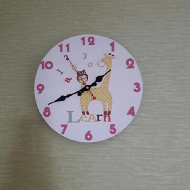 Cartoon Design Wall Clock Silent relogio de parede For Children Room Wall Decor Elephant Saat Watch Gift orologio da parete