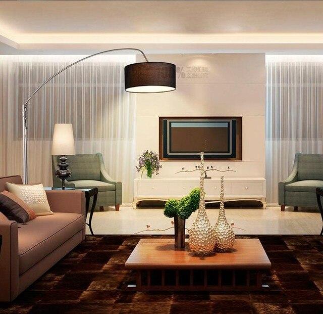 Moderno e minimalista soggiorno lampada da terra parabolica luce ...