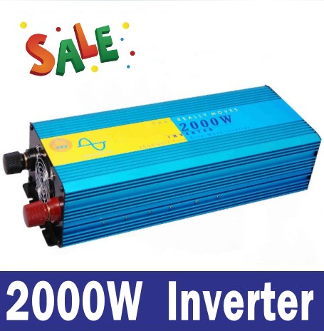 Pure sine wave inverter 2000W 220/220V 12/24VDC  PV Solar Inverter, Power inverter, Car Inverter Converter pure sine wave inverter 1500w 110 220v 12 24vdc ce certificate pv solar inverter power inverter car inverter converter