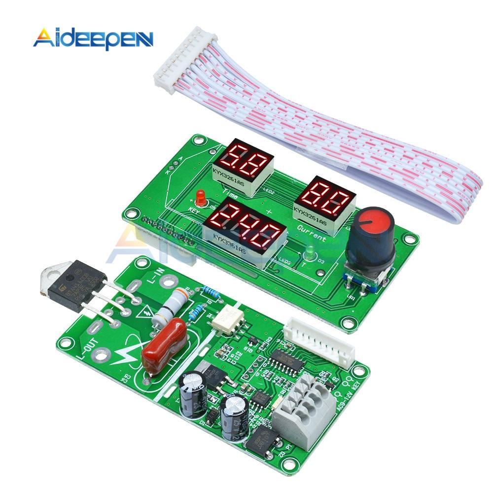 Digital Tube LCD Single Pulse Encoder Spot Welder Welding Module Machine Time Control Board 40A Red Display