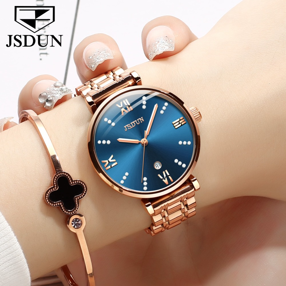 Reloj Mujer Creative Woman Watches Rose Gold Stainless Steel Diamond Quartz Dress Female Watch Date Water Resistant bayan saat Reloj Mujer Creative Woman Watches Rose Gold Stainless Steel Diamond Quartz Dress Female Watch Date Water Resistant bayan saat