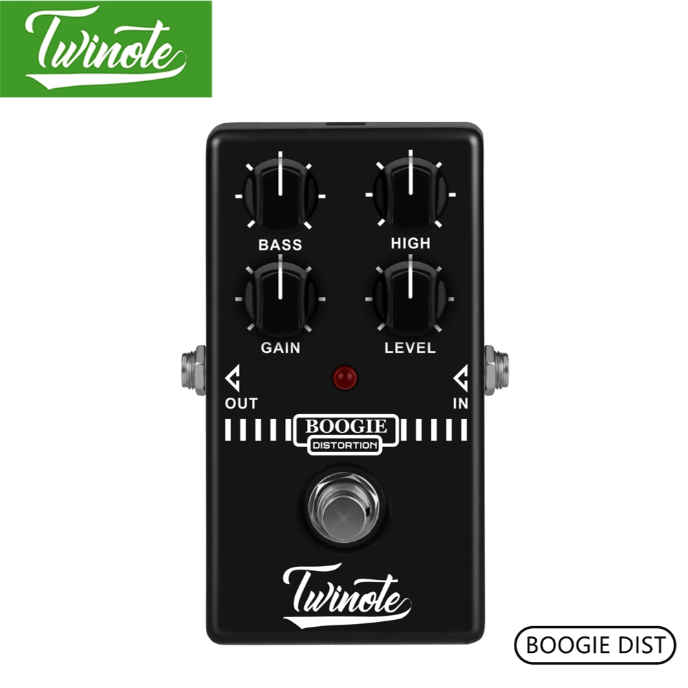 цена Twinote Boogie Dist Mini Guitar Pedal Old School Distortion Tone Synthesizer For MESA Boogie Guitar Effect Pedal