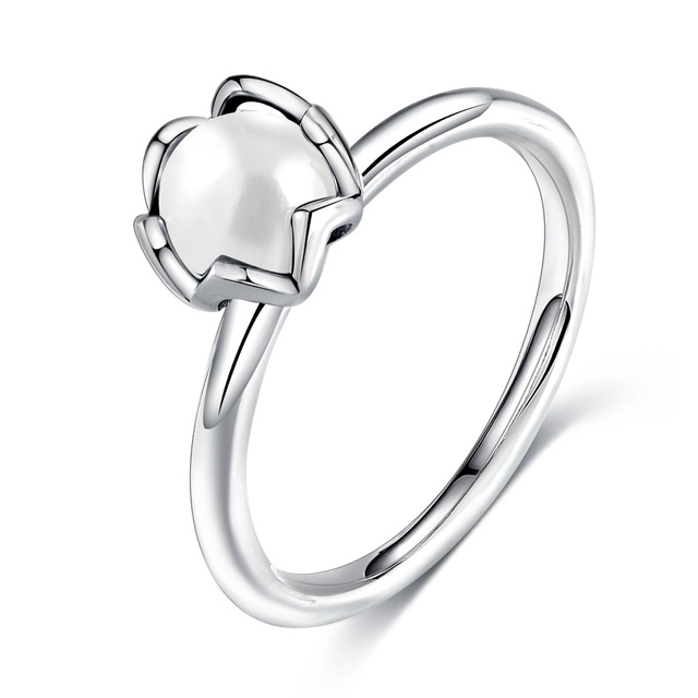 Beagloer Fashion Silver Color Rings Elegance Clear CZ Flower Finger Rings For Women Wedding Party Gift Jewelry anillos Wholesale