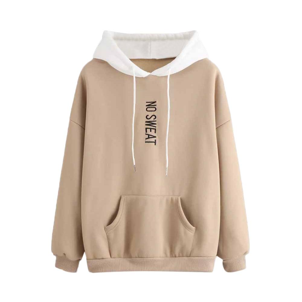Womens Hoodies Denim Long Sleeve Hoodie Sweatshirt Jumper Pullover Tops Autumn Winter Femme Loose Blue Hooded Harajuku Clothes 3 Attractive Designs; Hoodies & Sweatshirts
