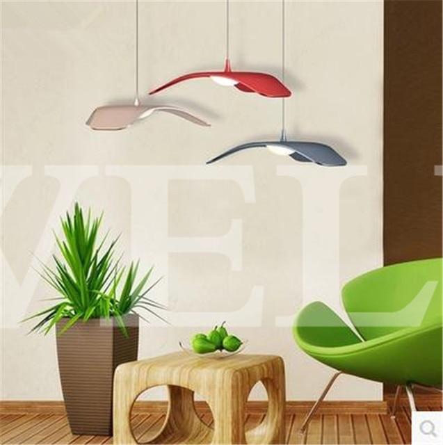 Moderne LED esszimmer wohnzimmer aluminium pendelleuchten leuchte ...