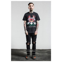 Men T Shirt 3D Grave Funny Heavy Metal Rock Tees Camisetas Master Of Puppets Hip Hop