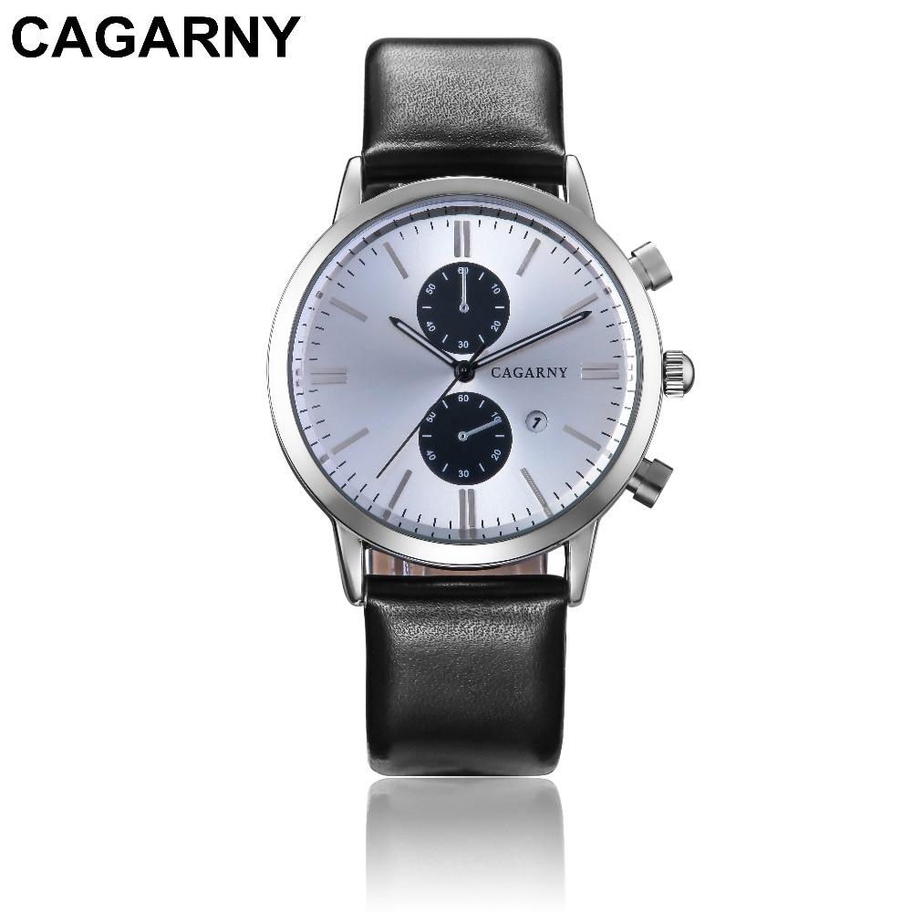 2018 Luxury Brand cagarny Men Sports Watches Men's Quartz Date Clock Man Casual Leather Fashion Wrist Watch Relogio Masculino 2019 drop shipping (5)