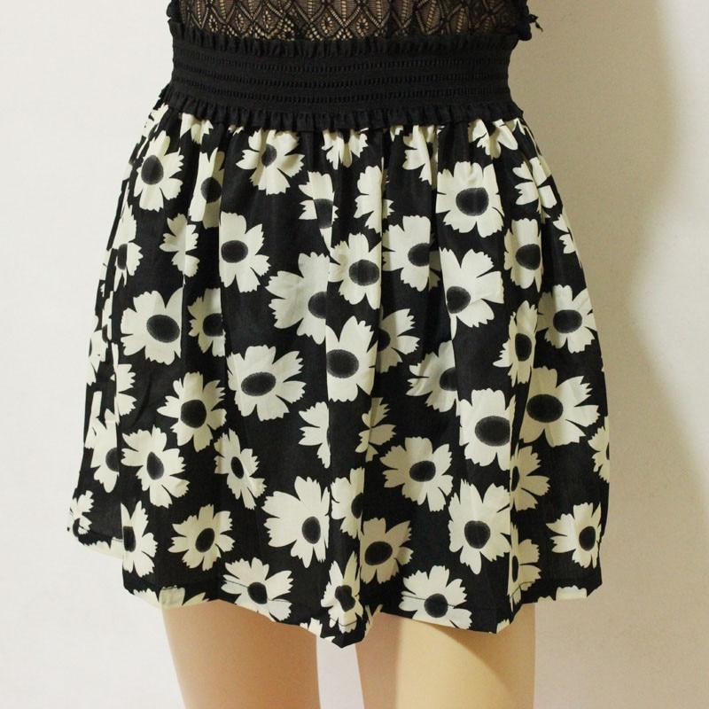 Fashion Pleated Retro High Waist Summer floral plaid Short Mini Skirts 2