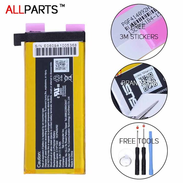 Allparts ORIGINAL C11P1322 2215-2300mAh Li-ion Tablet Battery For Asus Padfone S X T00D PF500KL T00N Battery Replacement