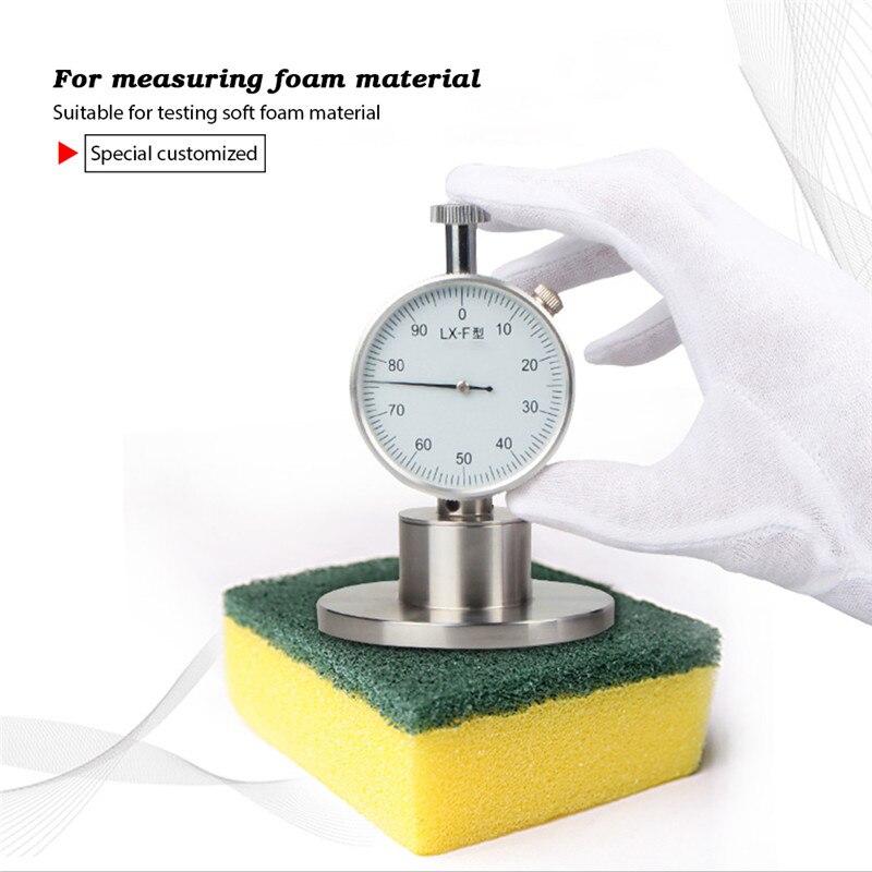 Foam Rubber Hardness Tester LX F 0 2 5mm Pointer Type Sponge Hardmeter Meter for Rubber