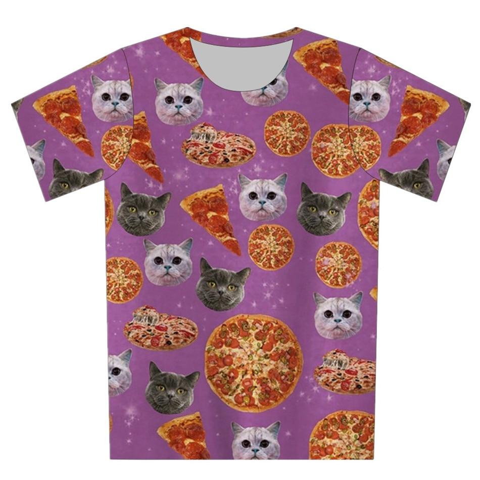 >Joyonly 2018 Children Black And White Small Cat Head <font><b>Food</b></font> Pizza Print Pink 3d T-shirt <font><b>Boys</b></font>/Girls Lovely T shirt Kids Cool Tees