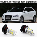 2X 92led H16 5202 PSY24W PS19W LED Bulb For AUDI A3 8P C7 A6 S6 Q5 SQ5 2008+Car Vehicle LED Front Turn Signals DRL BULB