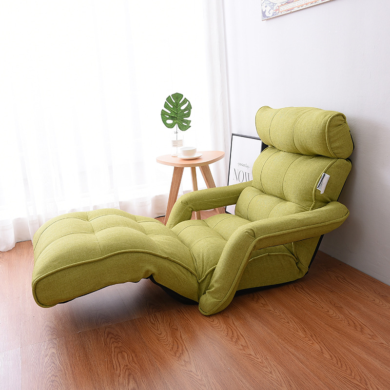 Aliexpress.com : Buy Floor Foldable Chaise Lounge Chair Green Adjustable  Recliner Living Room Furniture Japanese Style Daybed Sleeper Sofa Armchair  From ...