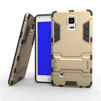 For Samsung Galaxy Note 4 N9100 Case Dual Layer Hybrid Rugged Armor Hard PC+TPU Shockproof With Kickstand Cover Cases For Note4