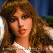 WMDOLL TPE sex doll head for men real oral sex, silicone love dolls heads with adult toys sex products