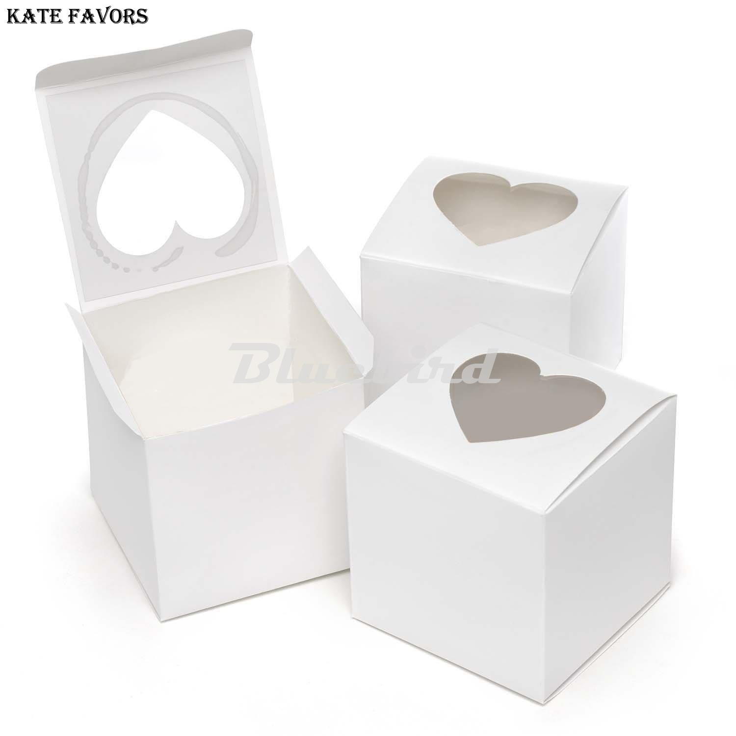 666cm Single Cupcake Box Packaging White Paper Cake Boxes And