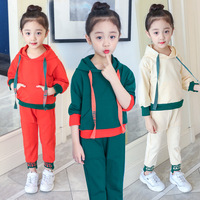 Sports Suit For Girls 4 5 6 7 8 9 10 11 12 13 Years Toddler Girl Clothing Set Autumn Kids Clothes Teenage Hooded Outwear + Pant