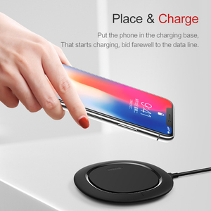 Image 5 - Qi Wireless Charger,USAMS Fast Wireless Charging Pad for iPhone X 8 8P Samsung Galaxy S9 S9+S8 S8+S7 S6 10W Mobile Phone charger