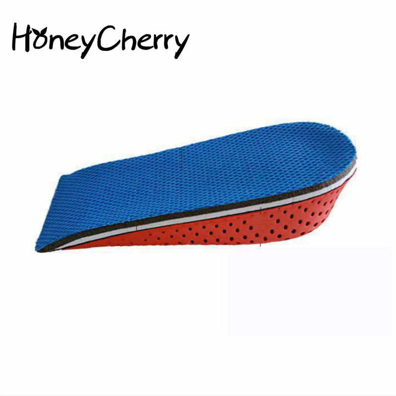 เพิ่มพื้นรองเท้าผู้ชายและผู้หญิงที่มองไม่เห็นการเคลื่อนไหว Breathable ระงับกลิ่นกาย Air Cushion 2 ซม. 3 ซม. 4 ซม. พื้นรองเท้า