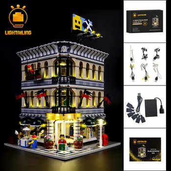 LIGHTAILING Led Light Up Kit For Grand Emporium Model Building Block Toys Light Compatible With Famous Brand 10211 Lighting Set - DISCOUNT ITEM  45% OFF All Category