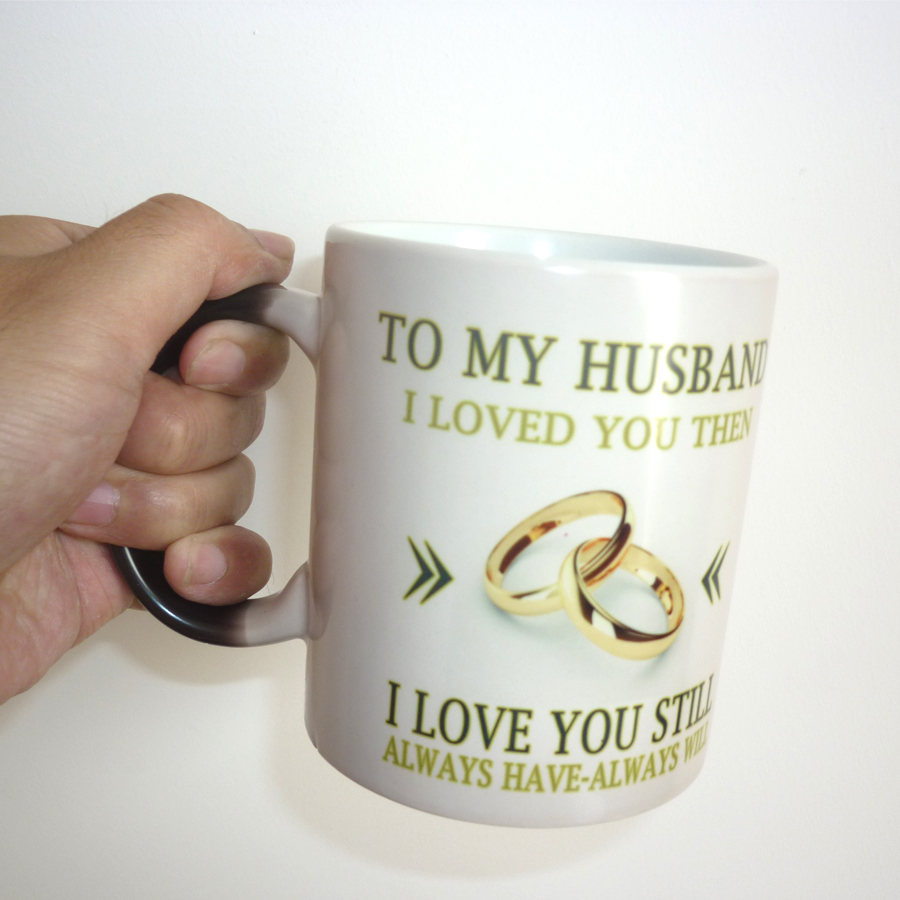 Best Gift For My Wife Part - 34: To My Wife / Husband Mug Magic Color Changing Coffee Mug Wedding  Anniversary Gifts, Best Gift For Your Wife Or Husband-in Mugs From Home U0026  Garden On ...