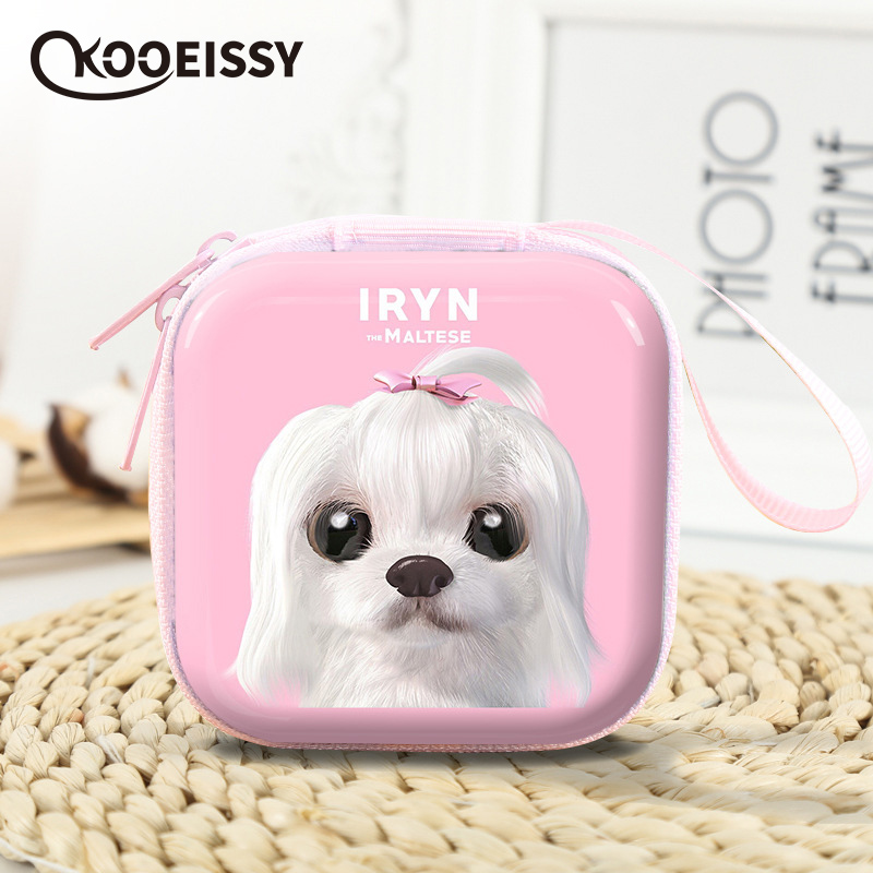 Unicorn Square Earphone Wire Organizer Box Data Line Cables Storage Box Coin Candy Case Headphone Protective Box Case Container