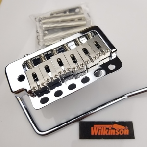 Image 2 - Wilkinson WVP6 Chrome silver ST Electric Guitar Tremolo System Bridge + Stainless Steel Saddles Made in Korea