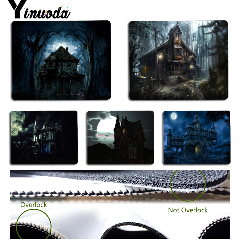 Yinuoda Non Slip PC Dark House Customized laptop Gaming mouse pad Size for 180x220x2mm and 250x290x2mm Rubber Mousemats