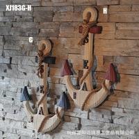 The Mediterranean sea anchor wood wood decoration ornaments Sea style decoration Home Furnishing anchor anchor XJ183