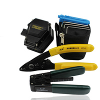 8 In 1 FTTH Fiber Optic Tool Kit with SKL 6C Fiber Cleaver and Double port Miller stripping + pliers Wire stripper Use Ftth Fttx