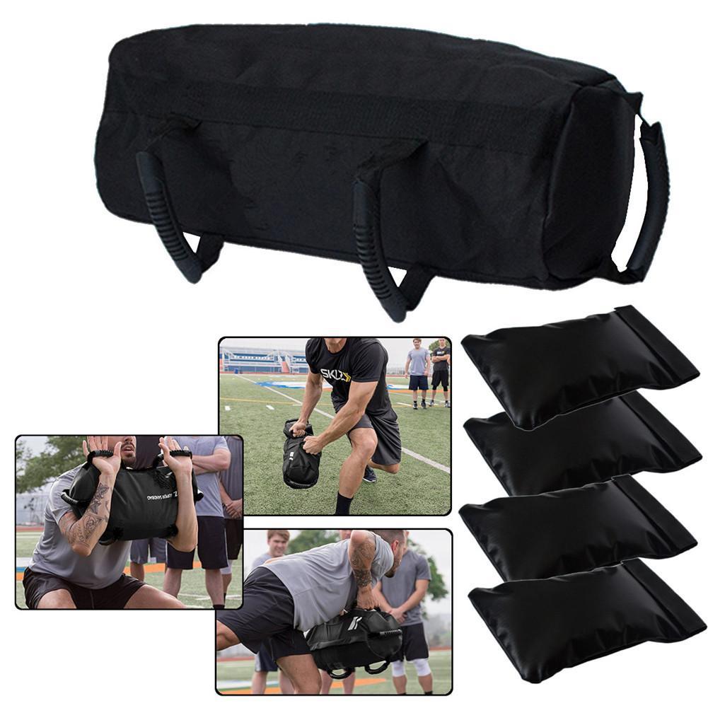 4pcs / Set Sandbag Weight Lifting Sand Bags Heavy Sand Bag MMA Boxing Crossfit Military Training Body Fitness Equipment