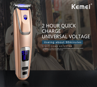 Kemei PG 102 LED Display Hair Clipper Lithium Ion Battery Hair Trimmer USB Adapter Charge Beard