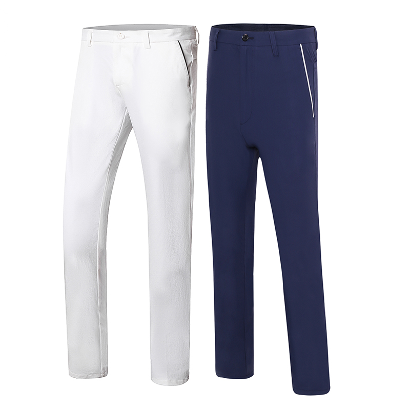 New summer golf pants men outdoor long golf trousers quick dry sports pants for Korean style slim training brand цена