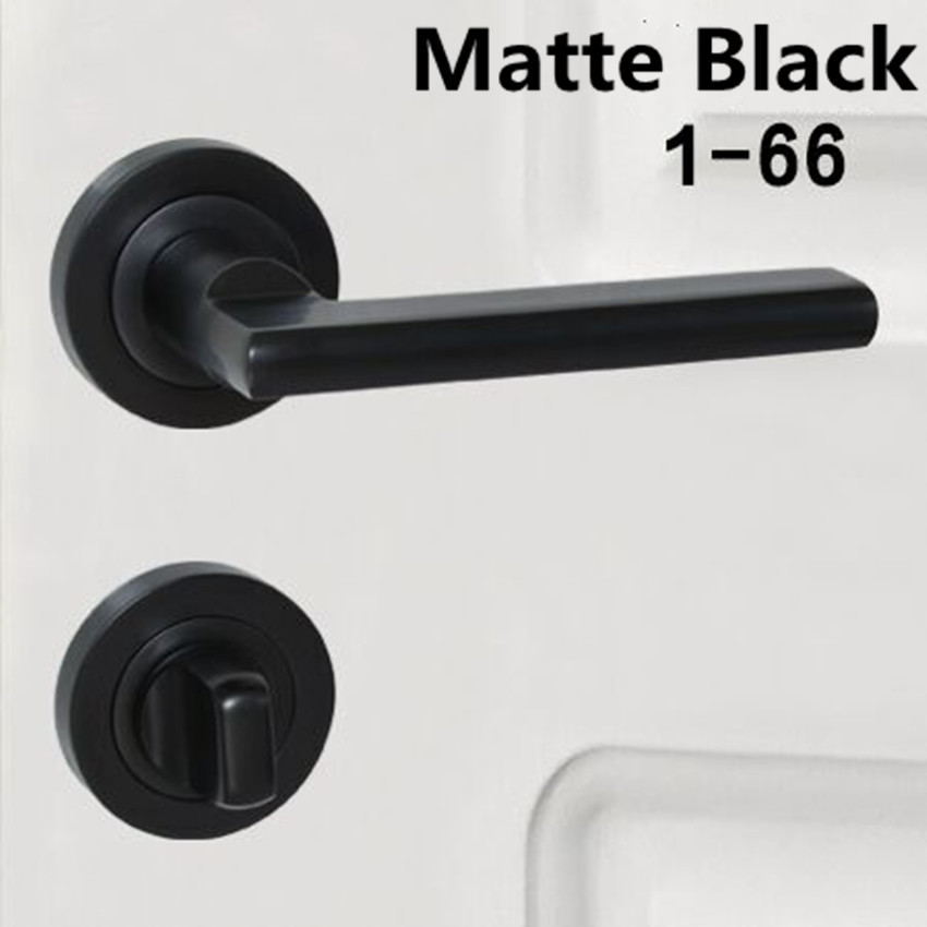 Modern simple secret door invisible black hidden concealed American background wall single handle single tongue lock without key