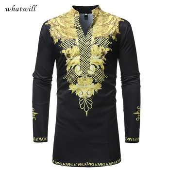 africa clothing hip hop dress shirts mens fashion