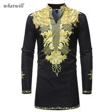 Африка одежда Хип Хоп Мужская классическая рубашка мужская мода