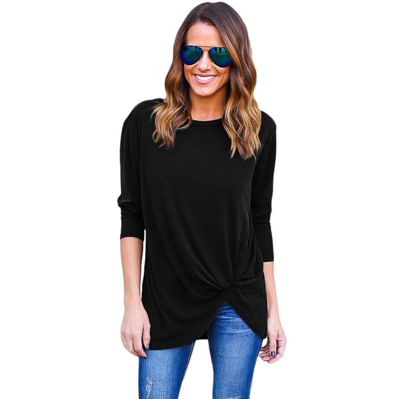 Plus Size Women T Shirt Top Tees Long Sleeve Casual Women