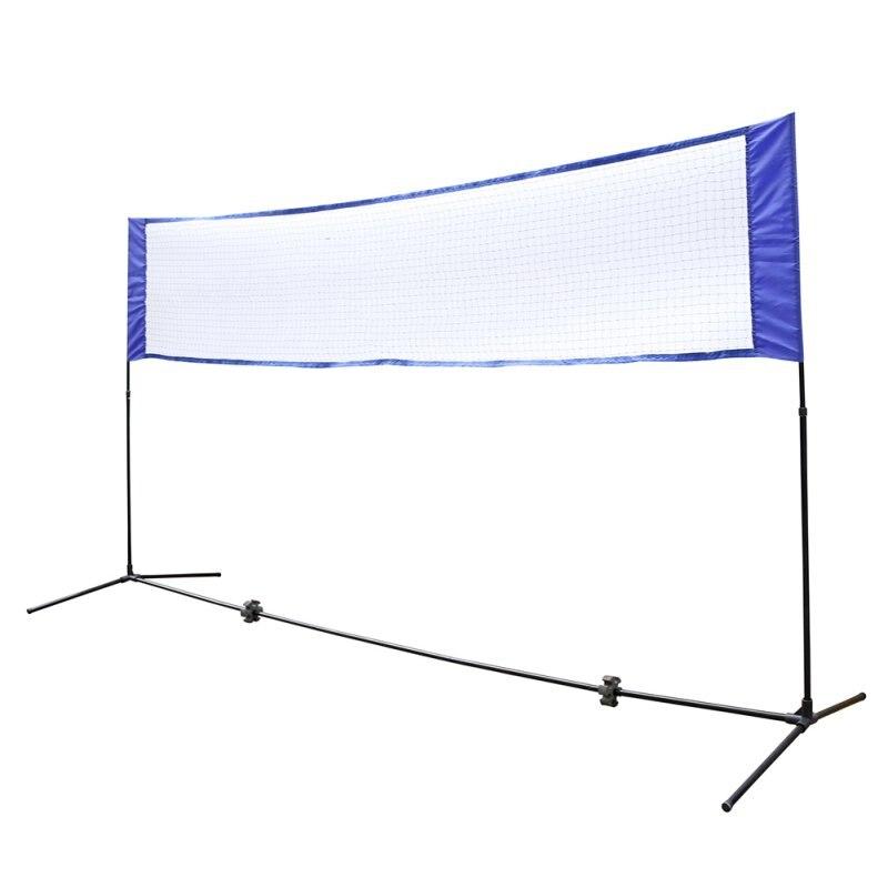 התחלה מהירה מדף כחול רשת בדמינטון טניס ספורט תחת כיפת השמיים נייד חיצוני פשוט מתלה טניס כדורעף נטו הדרכה כיכר רשת