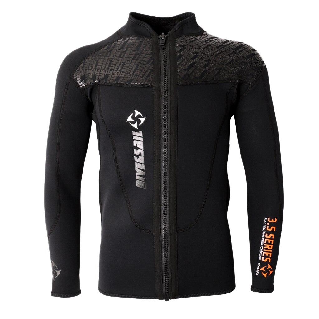 3 MM néoprène noir à manches longues combinaison pour hommes avant veste à glissière Top Surf plongée natation plongée en apnée Sports nautiques accessoires