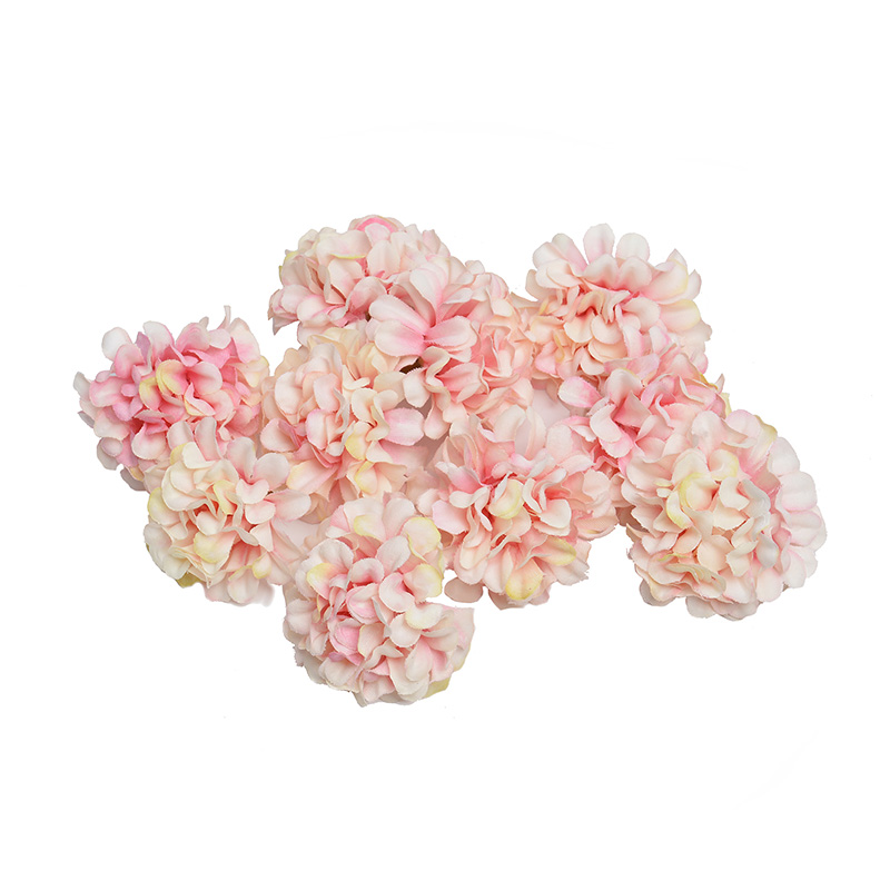 10pcs/lot Artificial Flower Silk Hydrangea Flower Head For Wedding Party Home Decoration DIY Wreath Gift Box Scrapbooking Craft(China)