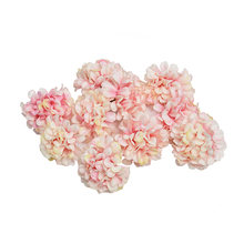 10pcs/lot artificial flower silk hydrangea flower head for wedding party home decoration DIY wreath gift box scrapbook craft(China)