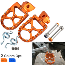 Foot Pegs FootRest Footpegs Rests Pedal For KTM SX SXF EXC EXCF XC XCF XCW XCFW 65 85 125 150 250 350 450 530 Adventure 98-2016