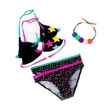 2019 New Summer Bathing Suit Girls split Two-pieces Swimwear, Children Cute Star Pattern Split Bikini Girls Swimsuit Wholesale