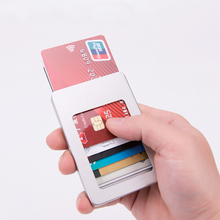 Weduoduo Credit Card Holders RFID Aluminum Box Wallet Fashion Casual Case Solid Metal High Quality Wallets