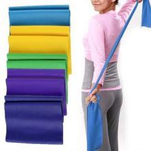 1.2m Elastic Yoga Pilates Latex Stretch Exercise Band Arm Back Leg Fitness