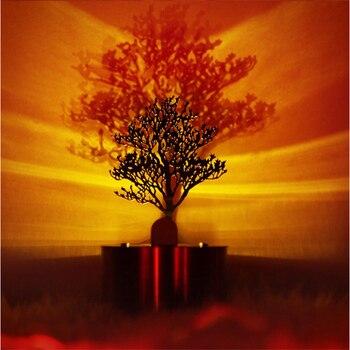Criativo Sombra Lâmpada De Projeção De Aço Inoxidável Led Luz Eletrônica Vela Luz Aves Grupo Pinho Luz Sono Noite Luz